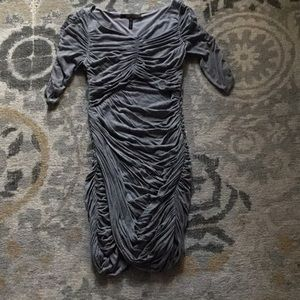 BCBG gray fitted mini dress